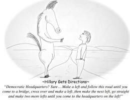 Hillary Gets Directions...